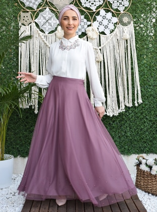 Fully Lined - Lilac - Evening Skirt
