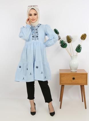 Blue - Cotton - Tunic
