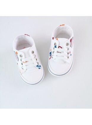 White - Sport - Baby Shoes - MİNİPUFF BABY