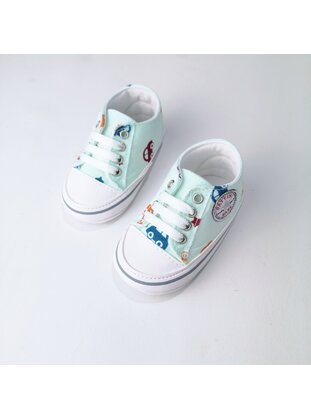 Green - Sport - Baby Shoes - MİNİPUFF BABY