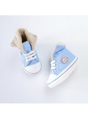 Light Blue - Sport - Baby Shoes - MİNİPUFF BABY