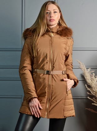 Unlined - Brown - Puffer Jackets