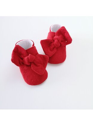 Red - Sport - Baby Shoes - MİNİPUFF BABY