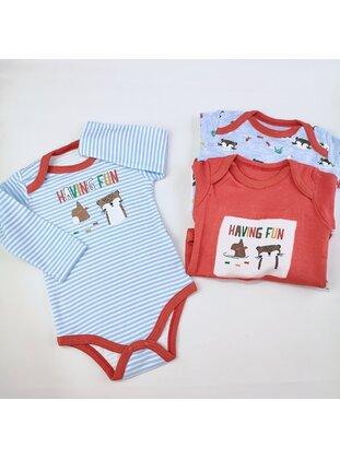 Blue - Printed - baby bodysuits