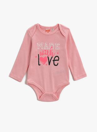 Pink - baby bodysuits - Koton