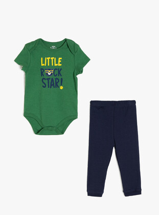 Olive Green - baby bodysuits - Koton