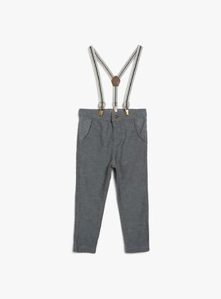 Pale Grey - Baby Pants - Koton