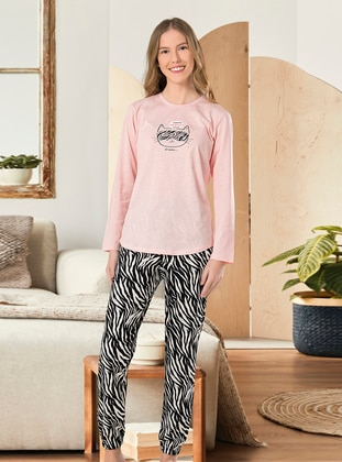 Crew neck - Pink - Cotton - Girls` Pyjamas