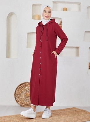 Maroon - Unlined - Cotton - Topcoat