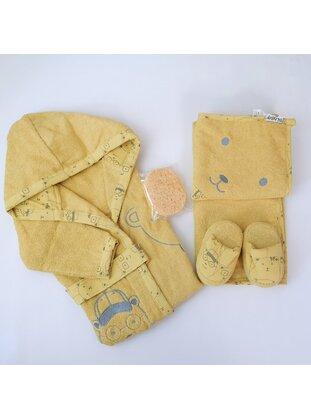 Mustard - Cotton - Child Towel & Bathrobe