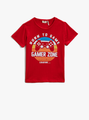 Red - Boys` T-Shirt - Koton