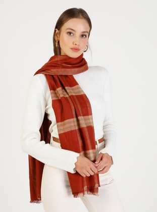 Terra Cotta - Printed - Shawl Wrap