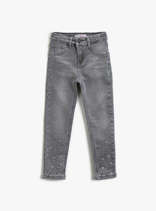 Pale Grey - Girls` Pants