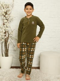 Multi - Crew neck - Unlined - - Boys` Pyjamas