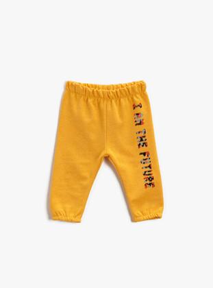 Yellow - Baby Sweatpants - Koton