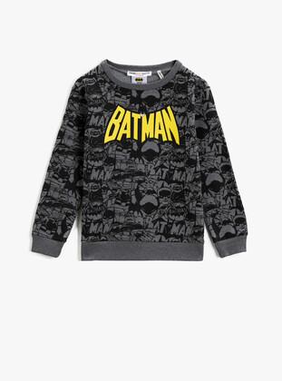 Gray - Boys` Sweatshirt - Koton