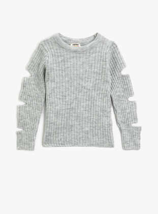 Pale Grey - Girls` Pullovers