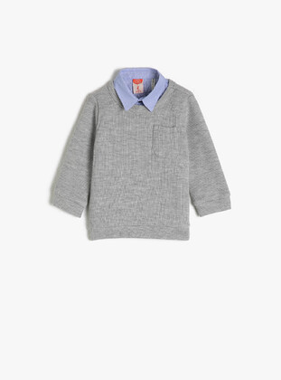 Pale Grey - Baby Jumpers - Koton