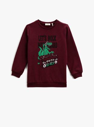 Maroon - Boys` Sweatshirt - Koton