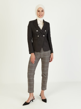 Black - Fully Lined - Point Collar - Jacket