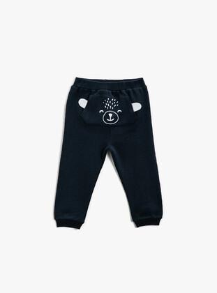 Navy Blue - Baby Sweatpants - Koton