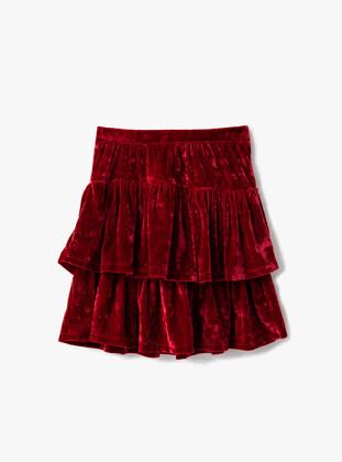Red - Girls` Skirt - Koton