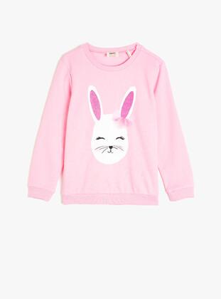 Pink - Girls` Sweatshirt - Koton