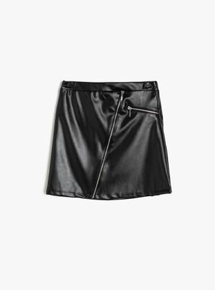 Black - Girls` Skirt - Koton