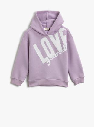 Lilac - Girls` Sweatshirt - Koton