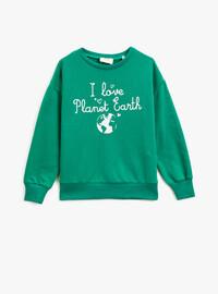 Green - Girls` Sweatshirt