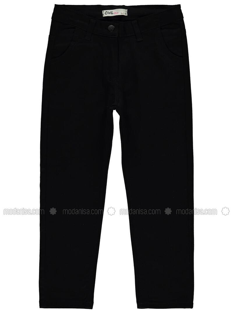 Black - Girls` Pants