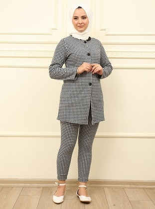 Black - Houndstooth - Unlined - Suit