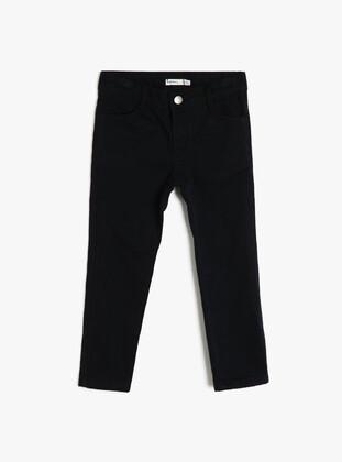 Navy Blue - Boys` Pants - Koton