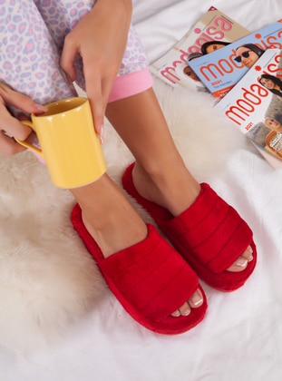 Sandal - Red - Home Shoes