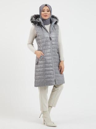 Gray - Fully Lined - Vest