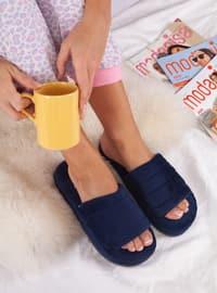 Sandal - Navy Blue - Home Shoes