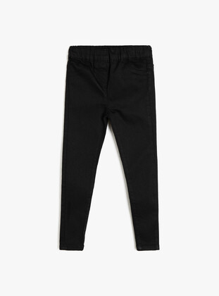 Black - Girls` Pants - Koton