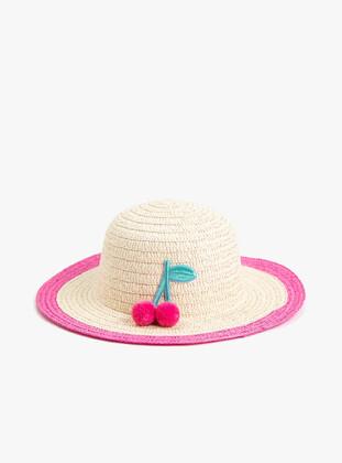 Beige - Girls` Hat - Koton