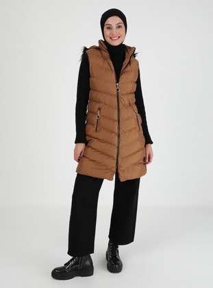 Tan - Fully Lined - Vest