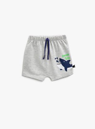 Gray - Baby Shorts - Koton