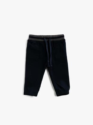 Navy Blue - Baby Pants - Koton