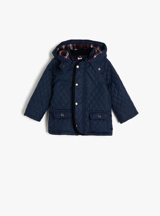Navy Blue - Baby Jacket - Koton