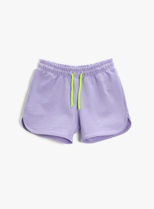 Lilac - Girls` Shorts - Koton
