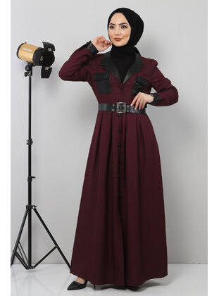 Unlined - Plum - Modest Dress