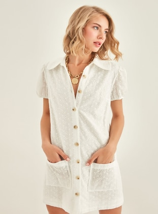 Ecru - Modest Dress