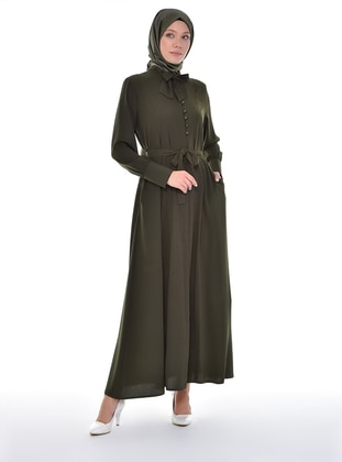 - Unlined - Point Collar - Abaya