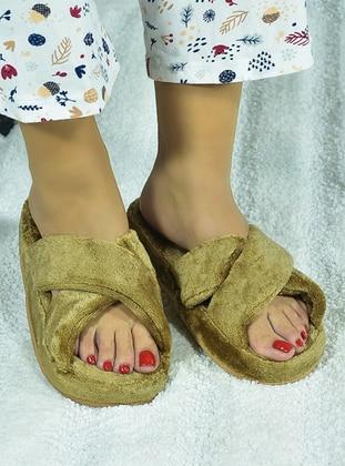 Sandal - Camel - Home Shoes