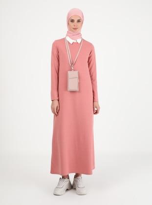 Powder - Crew neck - Unlined - Modest Dress