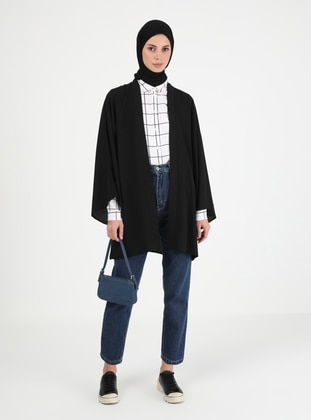 Unlined - Black - Kimono