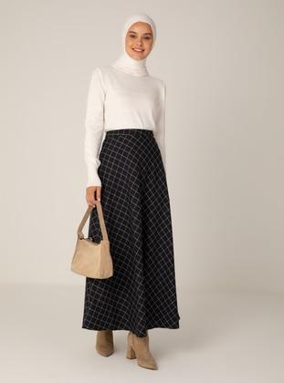 White - Black - Multi - Unlined - Skirt